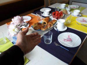 gedeckter Tisch - Klosterküche